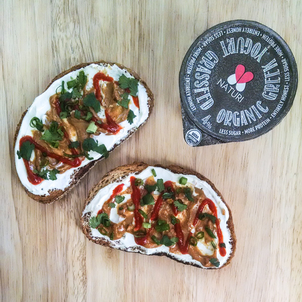Sriracha Peanut Butter Toast Recipe